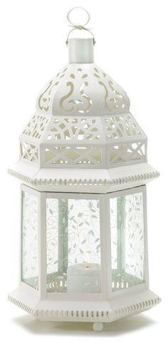 $31.05 - Koehler Home Decor White Moroccan Lantern modern-accessories-and-decor