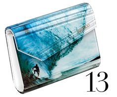 Surf Inspired clutch by Jimmy Choo