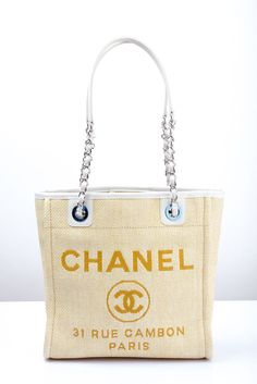 2014 CHANEL Deauville Tote PM Bag Serial No. included.  CHANEL   ShoulderBag. Jacquline Kang · The lust list cf4c3592f6