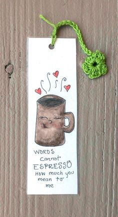 friendship bookmark coffee pun coffee lover gift by Berrylazybear