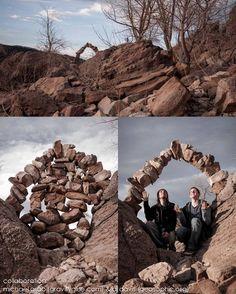 A few of Michael Grab's rock piles.  GravityGlue.com