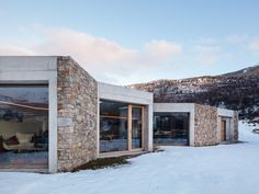 Vanella House / Orma Architettura Completed in 2017 in Casamaccioli France. Overlooking the village of Casamaccioli A CASA VANELLA is a guests house which is part of a natural landscape in the heart of Corsica in font. Architecture Art Design, Facade Design, Contemporary Architecture, House Design, Arch House, Facade House, Prefab Cabins, Inside Outside, Brick And Stone