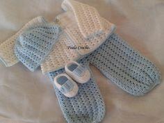 Conjuntinho de croche   Confeccionados com lã anti alérgica  Tamanho: 0 a 3 R$ 85,00