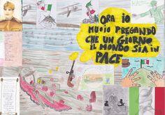 """I bambini del #Tifoni partecipano a """"Il Milite... non più ignoto"""" e vincono con un disegno che è omaggio ai Caduti della Prima Guerra Mondiale, di #Mulazzo."""