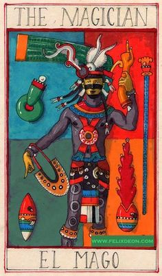 The Aztec Tarot now in the Gallery at Tarocci's Tarot.  Love the art in these cards, vibrant and beautiful.