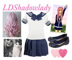"""""""Youtuber Outfits: LDShadowlady"""" by flowerchild33 ❤ liked on Polyvore featuring Schutz and Sephora Collection"""