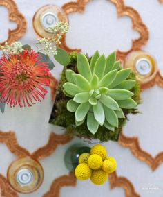 Table decor from Metro Atlanta Chamber Rooftop Pavilion party. Photos by Jack Parada Photography