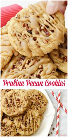 Pecan Cookies Praline Pecan Cookies are the perfect dessert recipe that combines pie with candy to make delicious desserts.Praline Pecan Cookies are the perfect dessert recipe that combines pie with candy to make delicious desserts. Brown Sugar Cookies, Pecan Cookies, Yummy Cookies, Baby Cookies, Heart Cookies, Valentine Cookies, Birthday Cookies, Pecan Recipes, Baking Recipes