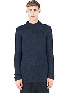 Rick Owens Silk Knitted Mock Sweater