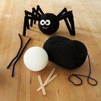 Fuzzy Friendly Halloween Spider ~ cute!