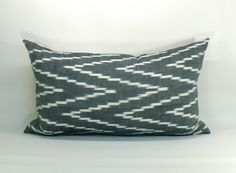 Kasari ikat pillow cover in Graphite - 12 x 20. $50.00, via Etsy.