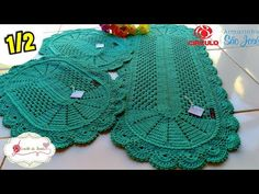 Free Doily Patterns, Crochet Patterns, Crochet Home, Knit Or Crochet, Crochet Table Mat, Crochet Videos, Doilies, Lana, Diy And Crafts
