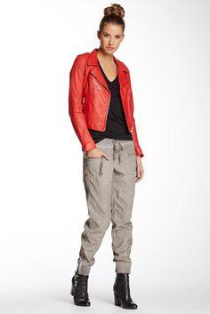 Sizing: Elasticized waistband with drawstring closure 4 pocket construction Tapered leg Ribbed trim zip-up cuffs Corduroy fabric Approx. Fashion Pants, Fashion Outfits, Womens Fashion, Khaki Jogger Pants, Dress To Impress, Corduroy, Parachute Pants, Zip Ups, Latest Trends