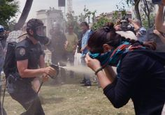 PLEASE SHARE! This what is happening right now in Istanbul. - May 31, 2013. Mainstream Turkish media is self-censoring the government induced police violence. Innocent people are terribly hurt for protesting against the demolition of the only green area on the European side of Istanbul, for purposes of building another shopping mall.   Another targeted pepper-spray moment from earlier today.