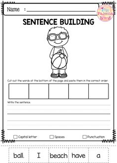 July Sentence Building has 30 pages of sentence building worksheets. This product will teach children to read, write and build sentences. Children are encouraged to use thinking skills while improving their comprehension and writing skills. These pages are great for morning work, word work and literacy centers. Preschool | Preschool Worksheets | Kindergarten | Kindergarten Worksheets | First Grade | First Grade Worksheets | Sentence Building | Sentence Building Worksheets 1st Grade Writing, Kindergarten Writing, Kids Writing, Kindergarten Worksheets, Writing Skills, Teaching Reading, Teaching Kids, Hand Writing, Writing Lessons