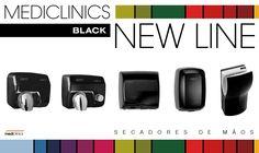 NOVIDADE: Mediclinics BLACK NEW LINE • info@laserbuild.pt #mediclinics Nintendo Wii, Black, Paper Towels, Soap Dispenser, Black People