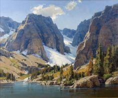 Deep Lake by Scott Christensen Fantasy Landscape, Landscape Art, Landscape Paintings, Beautiful Paintings, Beautiful Landscapes, Mountain Paintings, Wow Art, Le Far West, Traditional Paintings