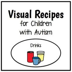 This packet contains the visual recipes for some fun & functional drinks! These are quick & easy treats that can be used as a classroom special activity, afternoon snack, or group project! by theautismhelper.com