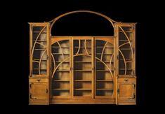 Gustave Serrurier-Bovy - Bookcase, ca. 1898 Art Nouveau Interior, Art Nouveau Furniture, Art Nouveau Architecture, Art Nouveau Design, Home Decor Furniture, Unique Furniture, Design Art, Furniture Design, Victorian Furniture