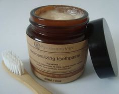 Natural Toothpaste CHOOSE OILS 4oz Organic by EsotericMedicine