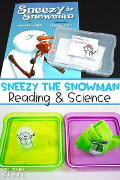 Sneezy the Snowman Reading Unit for Kindergarten and First Grade. Dive into reading comprehension with this fun unit. Students study the cause and effects of the Sneezy's actions. Crafts, math and literacy centers, worksheets, and science exploration is a