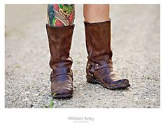 Cowboy Boots & Tattoos. #groom #tattoos #wedding