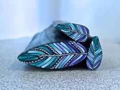 Inspiration Feather Cane Leaves using Polymer Clay