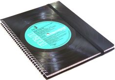 DIN A5 - Notizbuch aus Schallplatte ELVIS - ein Designerstück von Aurum bei DaWanda