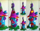 felted fairy lamp, bedside lamp, night light, handmade, wool, felt, fairy light, Waldorf inspired, MADE TO ORDER