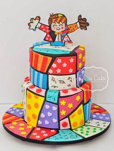 bolo mais do que lindo do Romero Britto - Drica Cake Confeitaria Artesanal
