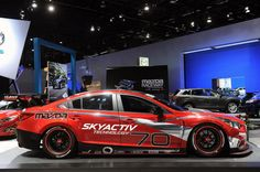 Mazda 6 Skyactiv-D racecar. I would love to put the motor from this car into the Rx8. 2.2-liter SKYACTIV-D four-cylinder turbo-diesel engine that develops 400 bhp (298 kW) and 445 lb-ft (602 Nm) of torque.