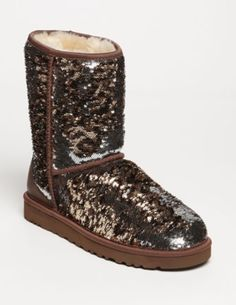 UGG® Australia 'Classic Short Sparkle' Boot (Women) available at this one is leopard sparkle!