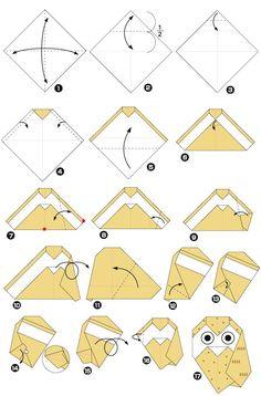 tutoriel origami hibou