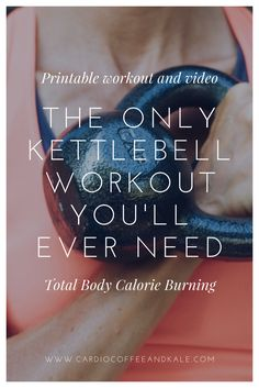 Fitness Motivation : Illustration Description The only kettlebell workout you'll ever need! A total body ultimate workout – build strength and blast calories! -Read More – Kettlebell Training, Wöchentliches Training, Workout Kettlebell, Kettlebell Benefits, Kettlebell Challenge, Kettle Bell Hiit Workout, Kettle Bell Ab Exercises, Kettlebell Swings, Strength Training