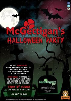 Things are getting spooky at our McGettigan's JLT! Come and join the Halloween fun!