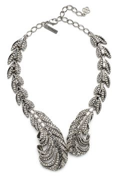Rent Crystal Feather Necklace by Oscar de la Renta for $175 only at Rent the Runway.