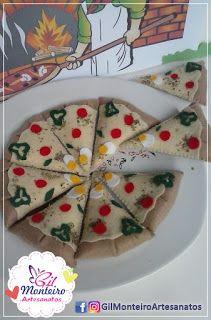 Gil Monteiro Artesanatos - RJ: Pizza em Feltro