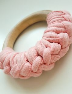 Wooden teething ring pink by PrinsDesigNL on Etsy
