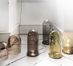 Lampe  poser Transparent H21cm GLOW IN A DOME
