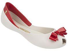 Melissa Women's Queen Bow-topped Flat In Beige/red Clog Sandals, Shoes Sandals, Heels, Women Sandals, Melissa Shoes, Queen, Vivienne Westwood, Amazing Women, Slip On