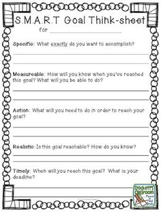 Kids for Worksheets: New Year Goals, Help your students set S. goals for the new year. Goal Setting For Students, Smart Goal Setting, Goal Setting Sheet, Goal Settings, Student Goals, Student Data, School Goals, School Ideas, Think Sheet