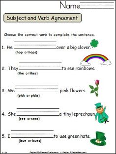 40 Best Predicate Images On Pinterest 1st Grades 2nd Grade