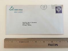 """Item: fc_19570620_1 business cover approx. 3 3/4"""" x 7 1/2"""" Condition: very good – yellowing due to age, top part of envelope trimmed off  Lisle Funeral Home 1605 L Street Fresno 1, California  Postmark: FRESNO JUN 20 4:30 PM 1957 CALIF. (partial) Stamp: 3c Liberty First Class  Addressee: Pacific Gas & Electric 1401 Fulton Fresno, Calif."""