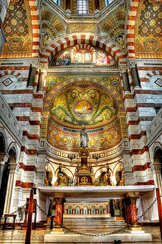 Notre Dame de la Garde - Marseille, France (HDR)