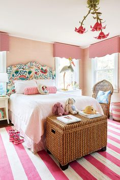 This Historic Colonial Home Gets a Modern Makeover: Little Girl's Bedroom Girls Bedroom Decor Bedroom For Girls Kids, Pretty Bedroom, Discount Bedroom Furniture, Kids Bedroom Designs, Bedroom Sets, Room, Scandinavian Design Bedroom, Bedroom Design, Home Decor