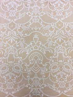 Offwhite macrame, Lace fabric, bridal lace fabric, Evening offwhite lace fabric, offwhite Spanish style, offwhite Alencon Lace Fabric B00149 by ImperialLace on Etsy https://www.etsy.com/nz/listing/511552710/offwhite-macrame-lace-fabric-bridal-lace
