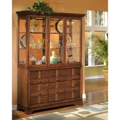 Legacy Classic Laurel Heights 3 Door Etched Glass Curio