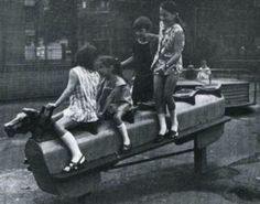 Had lots of fun on this as a kid, never saw anyone get hurt. Rocking horse in a playground. Too dangerous now. You had to hold on really tight when it rocked fast. 1970s Childhood, Childhood Days, Childhood Images, Swing And Slide, Old London, Thing 1, Teenage Years, The Good Old Days, Back In The Day