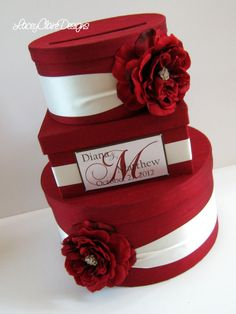 Wedding Gift Card Money Box  You customize by LaceyClaireDesigns, $115.00