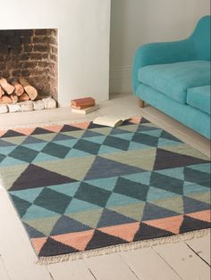 Sails rug from loaf inspired by boat house north of Stockholm | Daisies & Pie